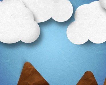 Mountains and Clouds Clip Art