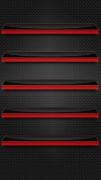 Black and Red Glass Shelves