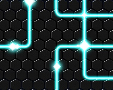 Bright Lines with Metal Hexagons Background