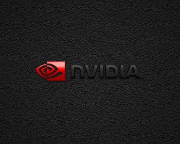 Dark Nvidia Logo with Black Noise Background