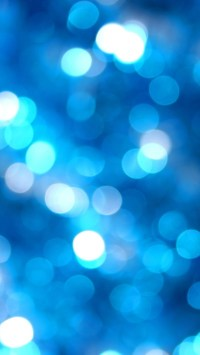 Blue and White Halos Bokeh