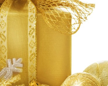 Gold Merry Christmas Gift Box