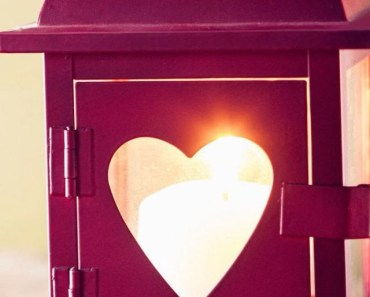 Red Love Heart Lantern