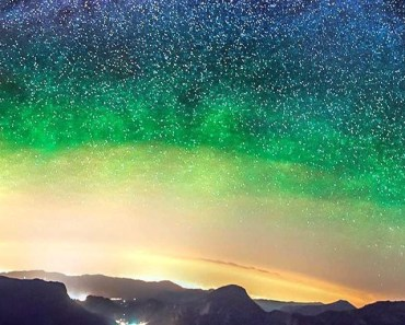 Starry Sky & Colorful Aurora