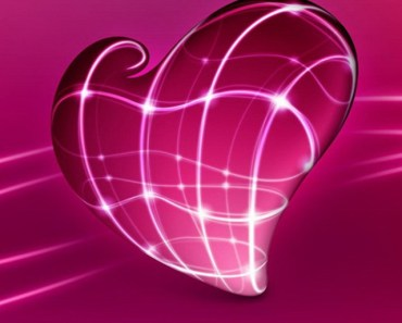 Pink Glossy Heart