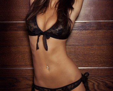 Rosie Jones Black Lace Lingerie