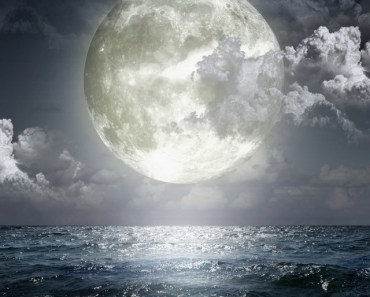 Super Moon Over The Sea
