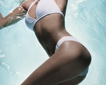 White Bikini Girl In Water