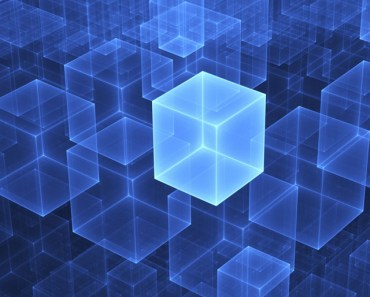 Blue Digital Cubes
