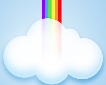 Abstract Rainbow Clouds