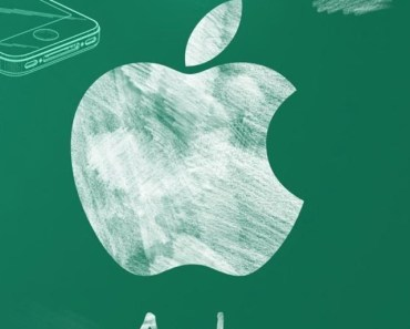 Apple Logo Chalk Drawing