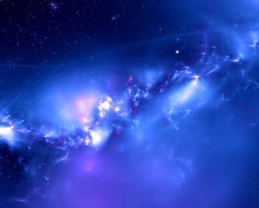 Blue Galaxy Distant Planets