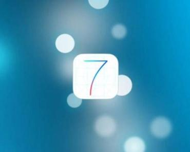 iOS 7 Logo With Blurred Lights