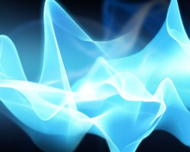 Abstract Light Blue Curves