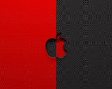 Red and Black Apple Logo