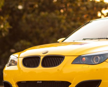 Yellow BMW M5