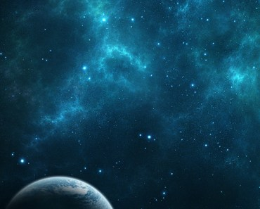 Earth In Blue Space