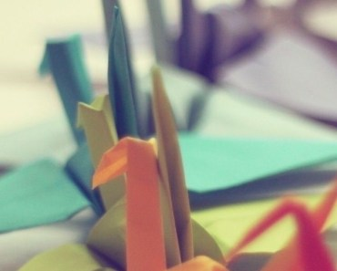 Colorful Paper Cranes