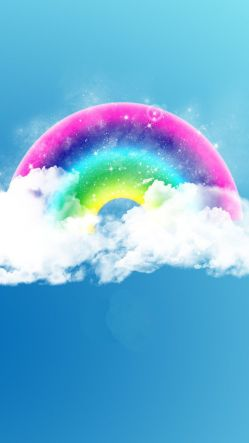 Rainbow On The Clouds Illustration
