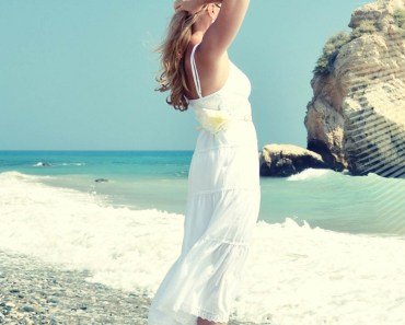 White Dress Blonde Girl