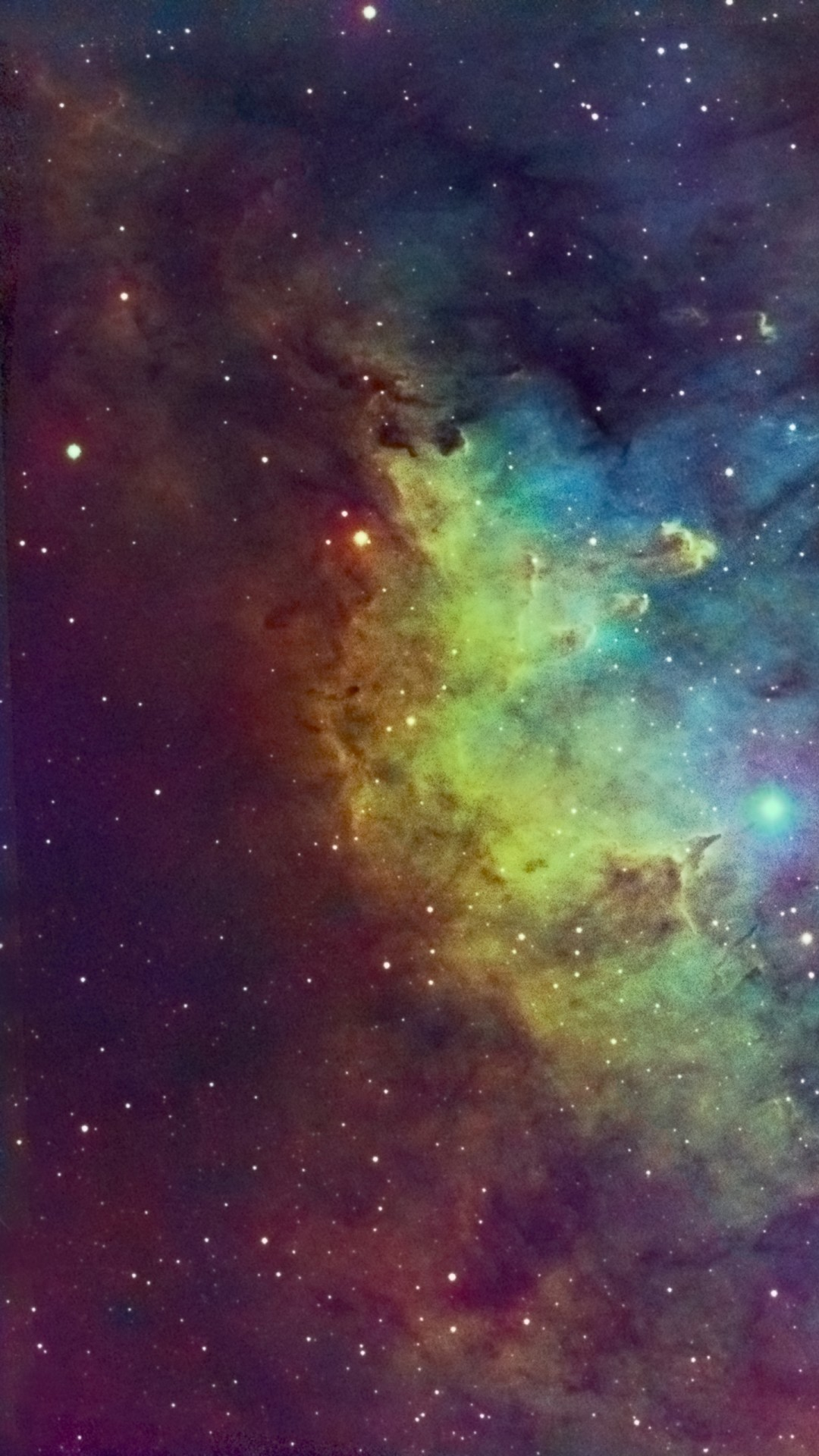colorful nebula iphone 6 / 6 plus and iphone 5/4 wallpapers