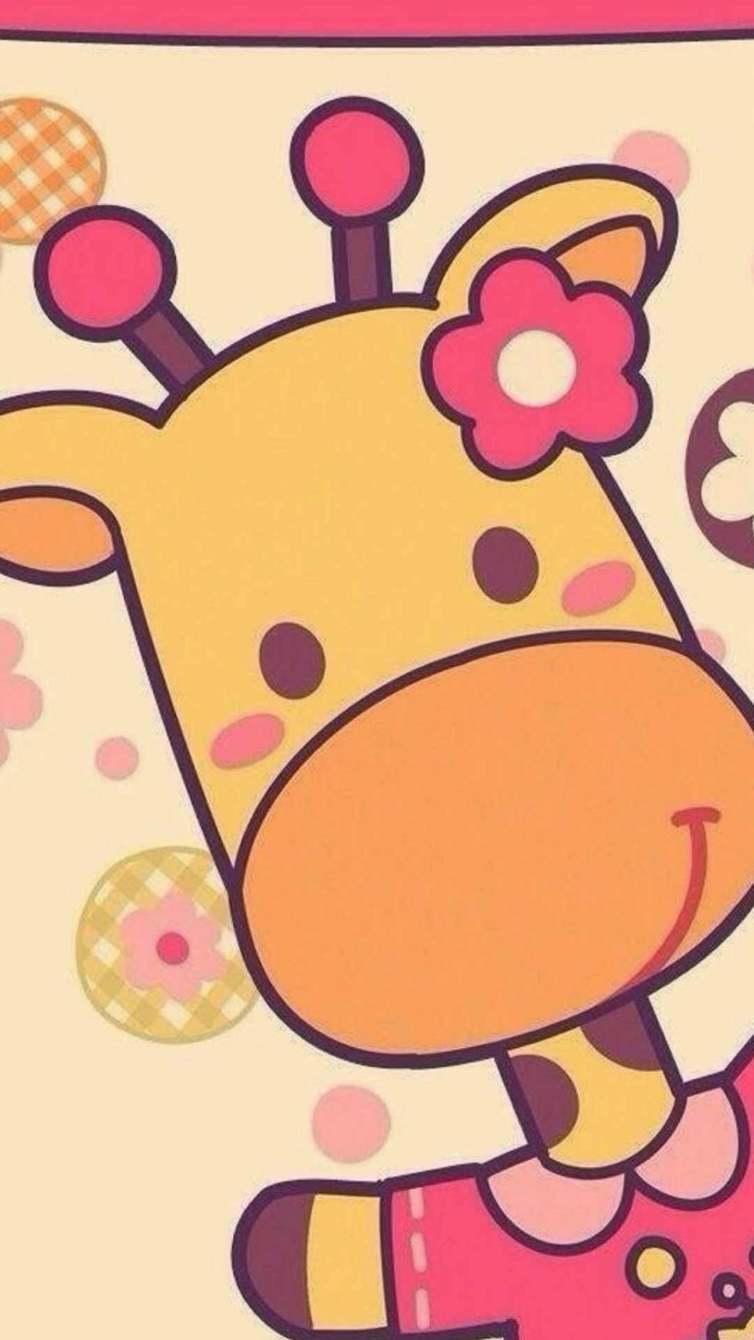 Cute Cartoon Giraffe Iphone 6 6 Plus And Iphone 5 4 Wallpapers
