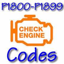 Diagnostic Trouble Codes Chart P1800 1899 Freeautomechanic