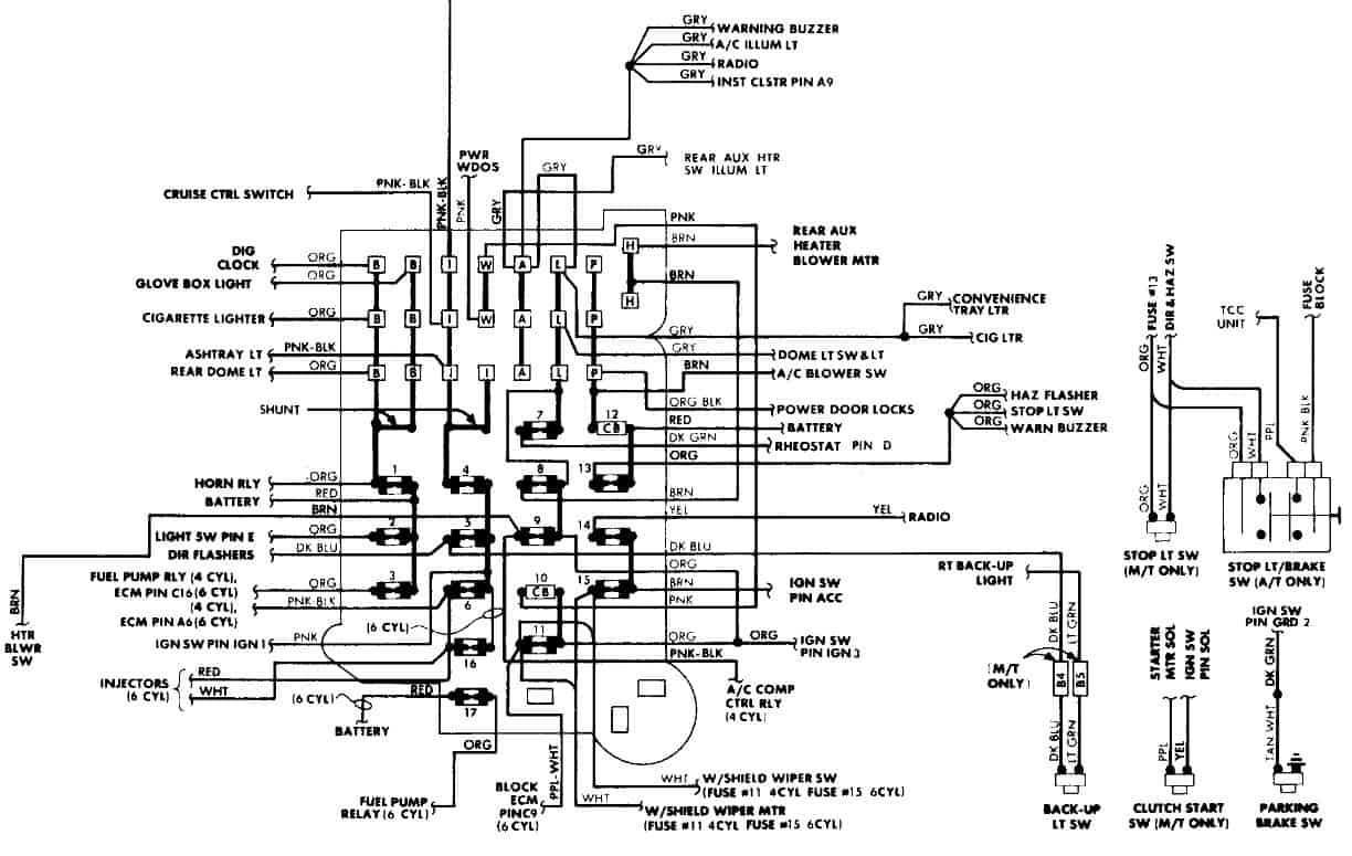 1994 Gmc Safari Fuse Box | Wiring Diagram Ac Wiring Diagram Gmc on