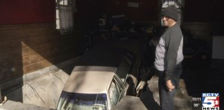 Car Falls Through Garage Floor Of Kansas City Home