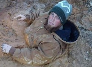 Muddy Road Traps Tennessee Man Up To His Chest