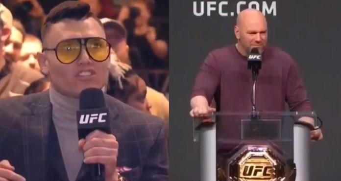Dana White Has Hilarious Reaction To Goofball's Question
