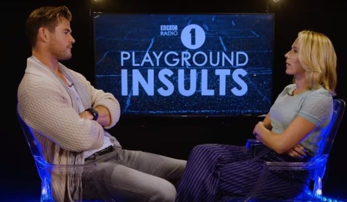 Chris Hemsworth And Scarlett Jo Face Off In BBC Radio's 'Playground Insults'
