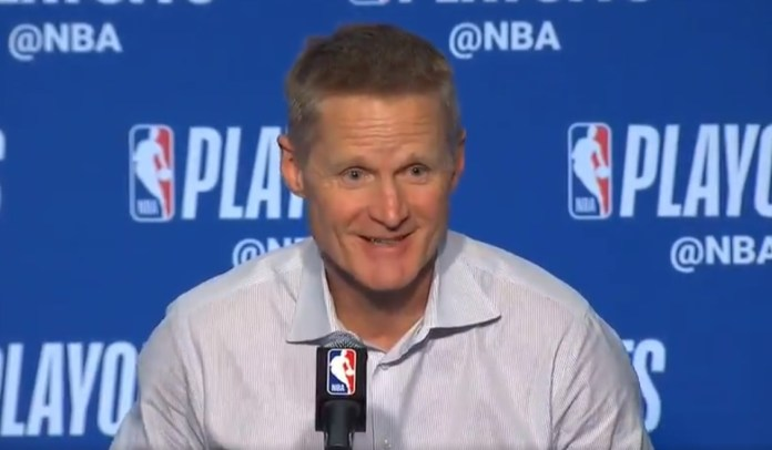 Warriors Coach Steve Kerr Has Sassy Response To Reporter's Question