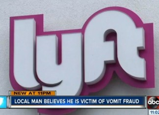 Lyft Rider Believes He Is Victim Of 'Vomit Fraud'