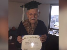 94-Year-Old Gets To Graduate High School For Father's Day