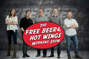 The Free Beer and Hot Wings Morning Show team photo