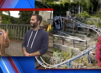 Dad Is Giving Away Homemade Backyard Roller Coaster For Free