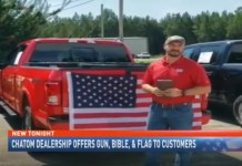 Car Dealership Offers A Gun, Bible, and Flag With A New Truck