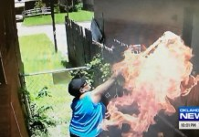 Alleged Arsonist Catches Herself On Camera Catching Neighbor's Home On Fire