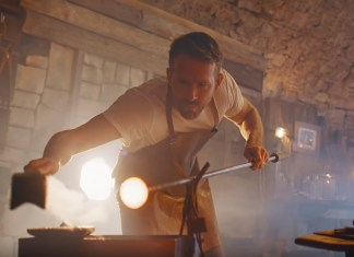 Ryan Reynolds Takes Up Blowing Glass In New Commercial For His Gin Company