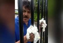 Dad Super Glues Himself To School Gates In Protest For His Daughter