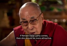 The Dailai Lama Says A Female Successor Should Be Attractive