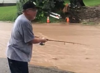 Rain And Flooding Doesn't Stop Pittsburgh Man From Reelin' 'Em In