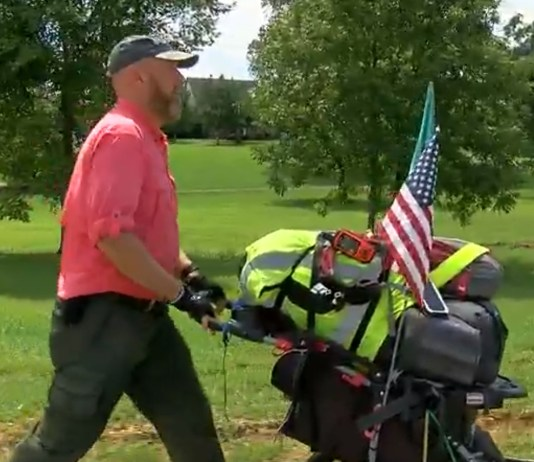 Army Veteran Walks 3,000 Miles To Disney World For Amazing Cause