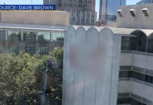 Downtown Sacramento Wall Re-Painted To Cover Giant Penis