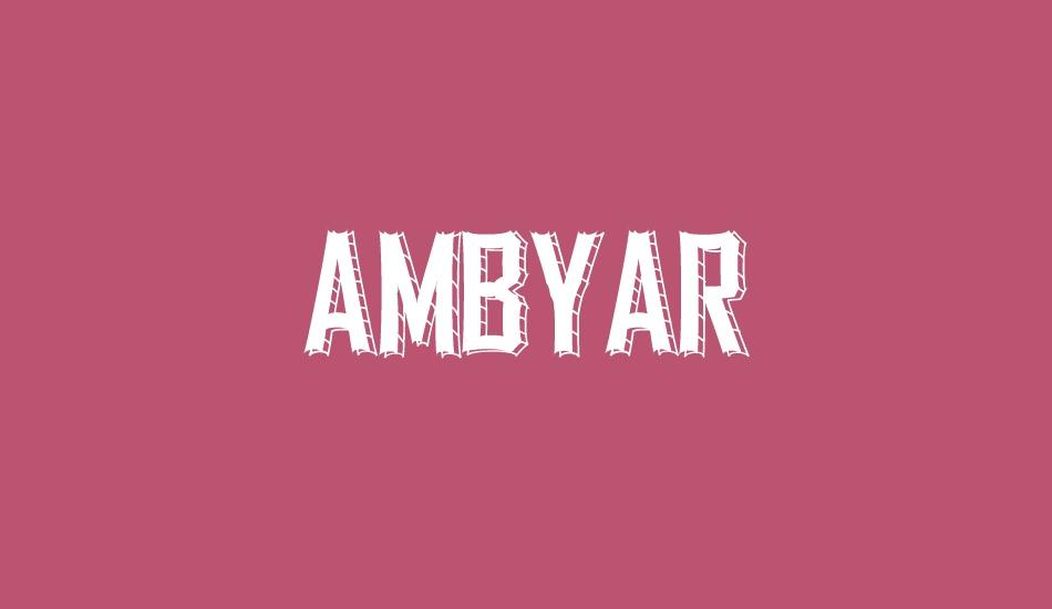 Ambyar Free Font