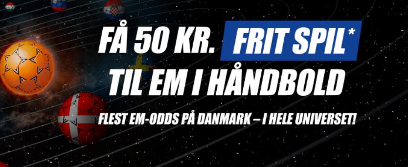 50 kr. freebet til EM i Håndbold i Kroatien