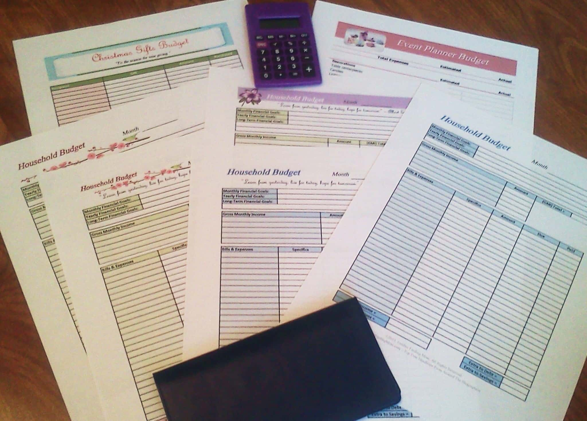 Free Printable Budget Worksheets