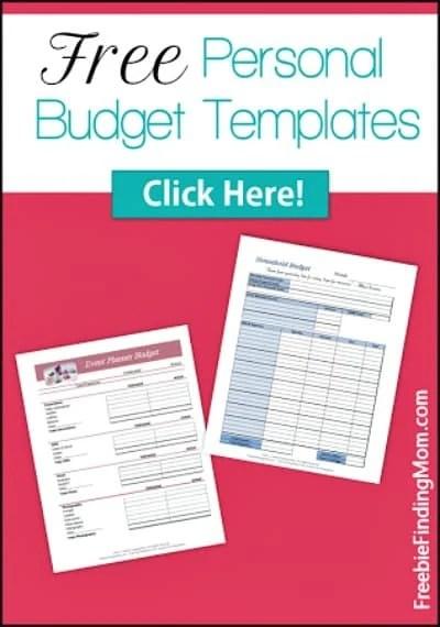 Free Family Printables Binder Budget