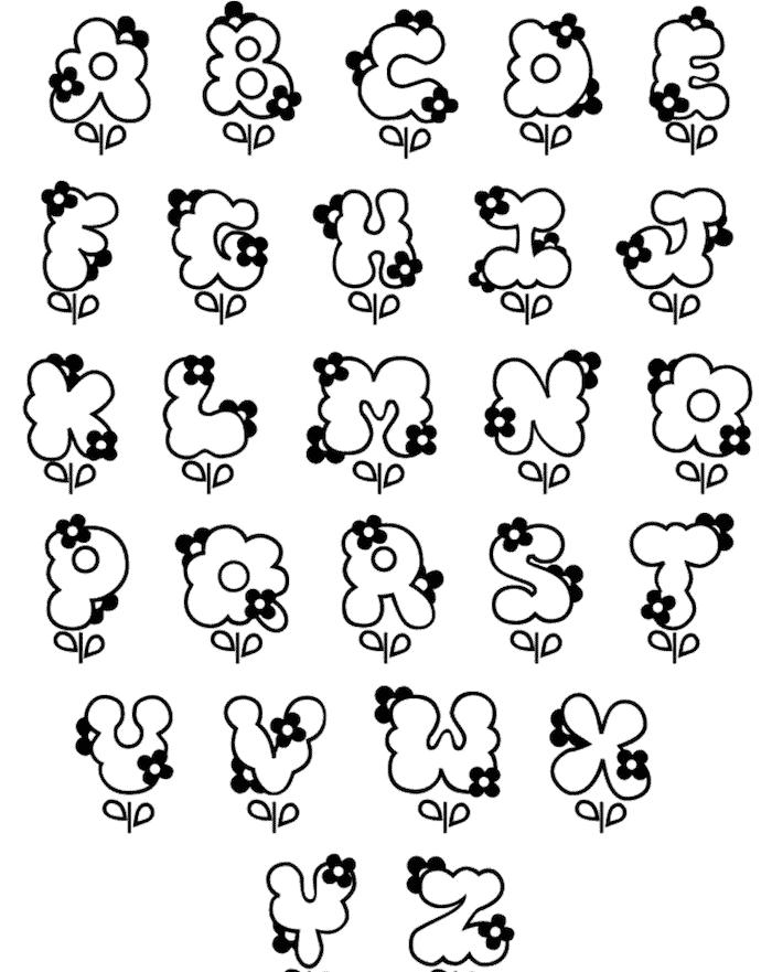 12 Free Printable Bubble Letters Alphabet Templates